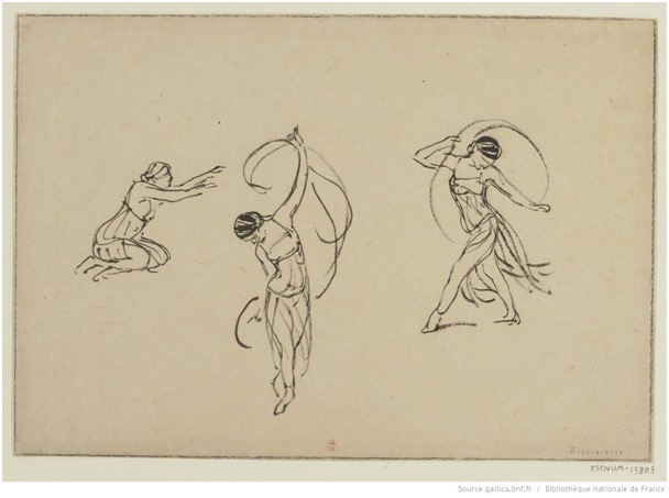 [Isadora Duncan Studies]: [drawing] / [Jules Chadel]